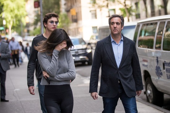 NEW YORK, NY - MAY 11: Michael Cohen, former personal attorney for U.S. President Donald Trump, walks with his children as he exits the Loews Regency Hotel, May 11, 2018 in New York City. AT&T CEO Randall Stephenson said this week that it was a mistake to hire Cohen as a consultant it was revealed they paid him $600,000 last year. (Photo by Drew Angerer/Getty Images)