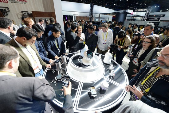 LG booth at the Consumer Electronics Show 2017