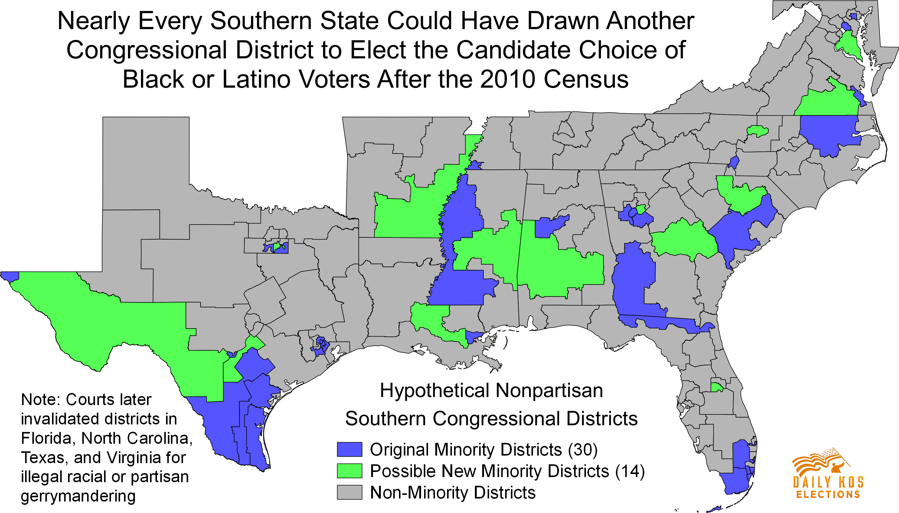 Nearly every Southern state could have drawn another ...