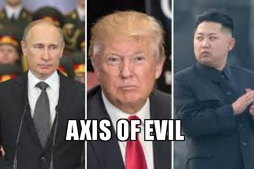 Image result for trump putin kim axis of evil