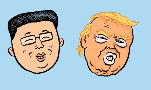 Cartoon by Matt Bors - North Korea vs. the United States - a comparison