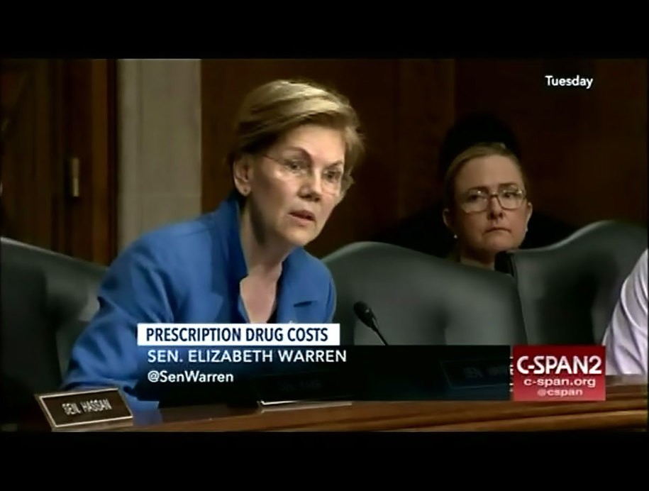 Sen. Warren catches Trump's HHS Secretary lying about how they're fixing drug prices
