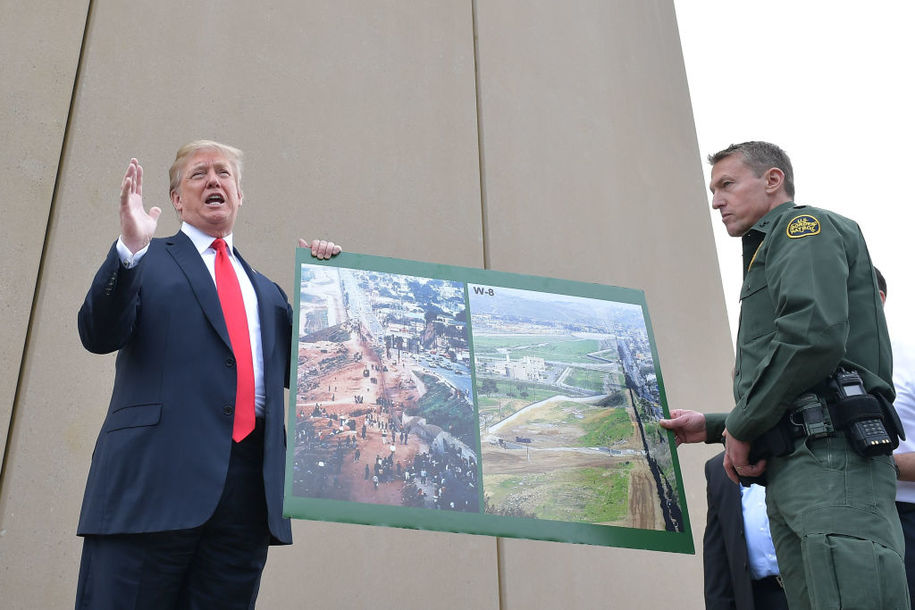 House takes Trump's wall-building plans to court