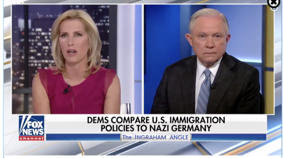 Laura Ingraham and Jeff Sessions make the argument their border policy is totally different from the Nazis because Hitler wouldn't let Jews leave Germany