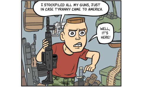 Cartoon by Matt Bors - The fight against tyranny—it's here!