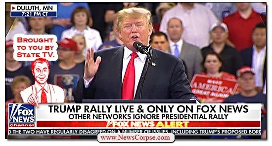 Image result for FOX News as Trump's STATE TV