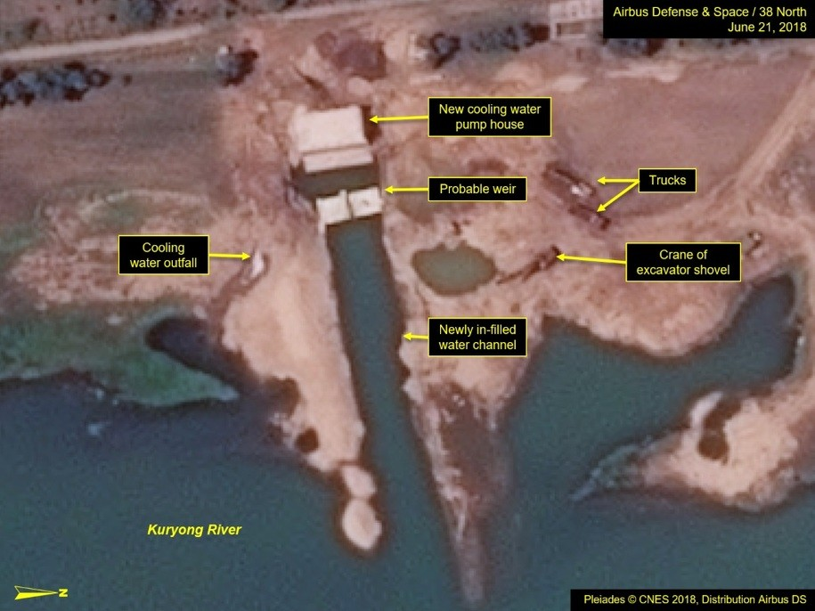 Area of new construction at Yongbyon Nuclear Research Facility, North Korea