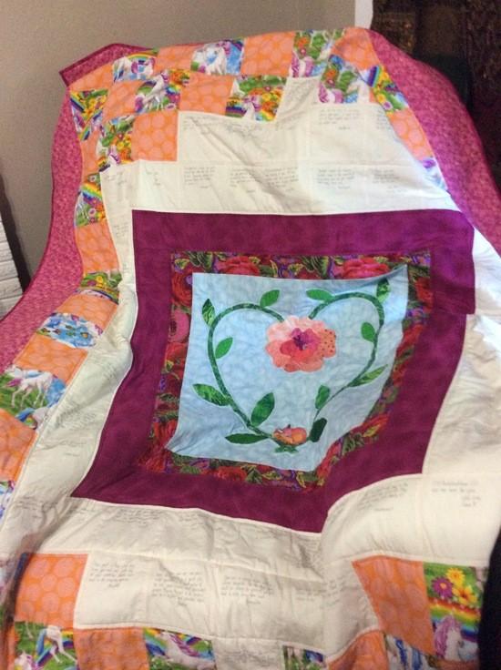 Rosebuddear's community quilt