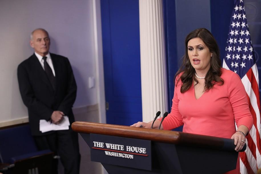Sarah Huckabee Sanders sends Trump's fans to attack New York Times, breaks federal regulations