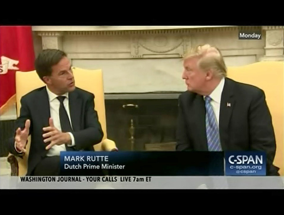 Frustrated Dutch PM interrupts Trump to explain what a world leader is and how world trade works