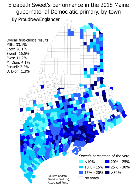 Maine 2018 Primary Analysis and Maps: Are there signs of the
