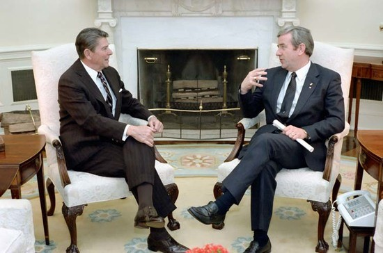 3/15/1983 President Reagan Meeting with Jerry Falwell in Oval Office