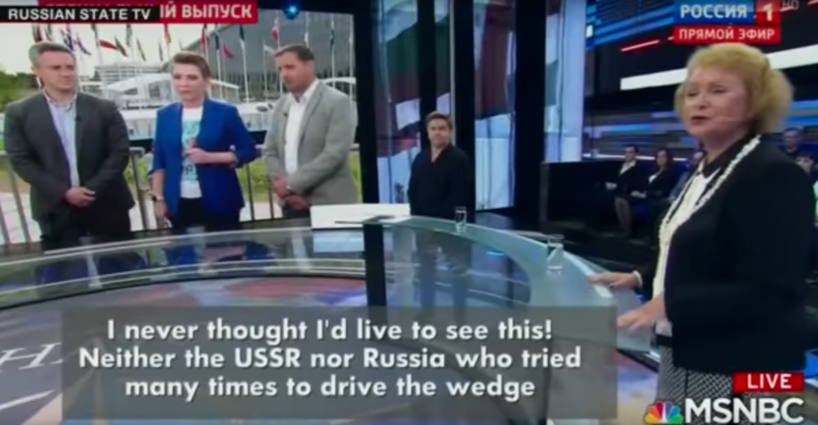 Russian State TV thrills over Trump's ghastly NATO performance