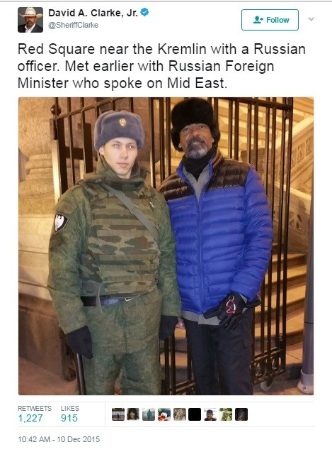 David Clarke in Moscow