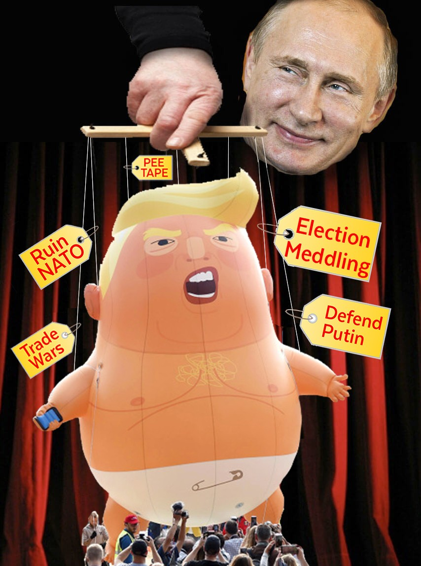 Putin Pulling the Strings of Baby Trump