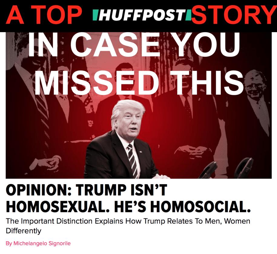 Homosocial and homosexual