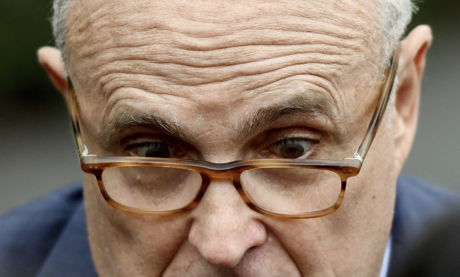 Rudy Giuliani accidentally created a new website link, and an internet prankster went to work