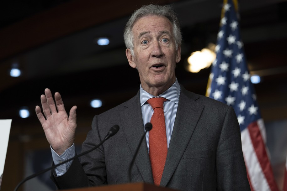 WASHINGTON, DC - JUNE 13: Rep. Richard Neal (D-MA), speaks during a news conference held by House Democrats condemning the Trump Administration's targeting of the Affordable Care Act's pre-existing condition, in the US Capitol on June 13, 2018 in Washington, DC. (Photo by Toya Sarno Jordan/Getty Images)