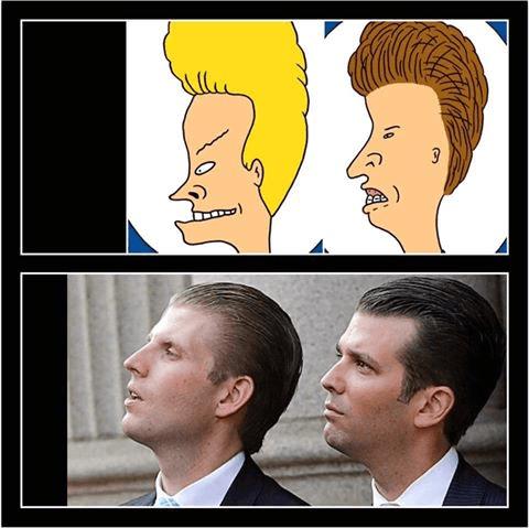 Beavis & Butthead Trump Brothers