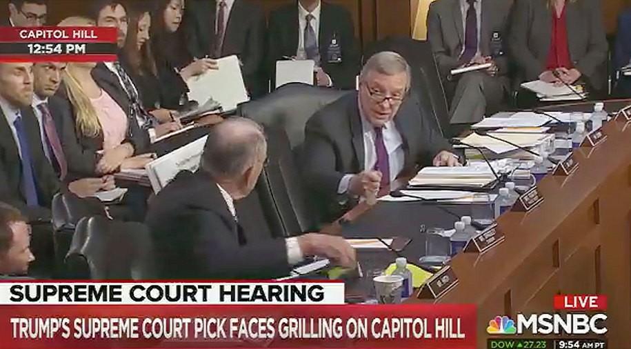 Sen. Durbin hands Sen. Grassley's ass back to him for making zero sense during SCOTUS hearing