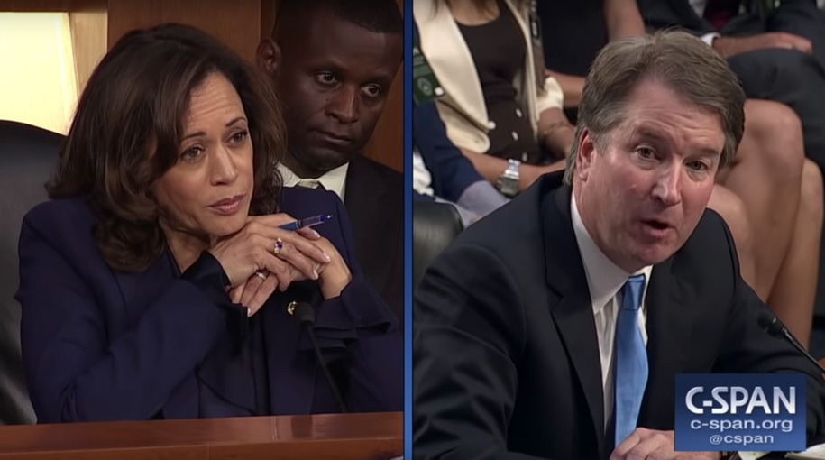 Sen. Harris corners Kavanaugh, and then implies she's got bombshell evidence against him