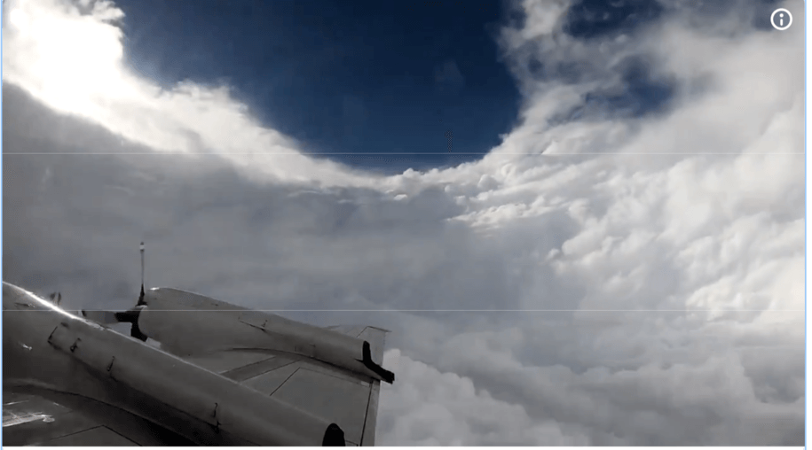 Wow! Video of the a U.S. weather agency's 'hurricane hunter' plane flying into the eye of Florence