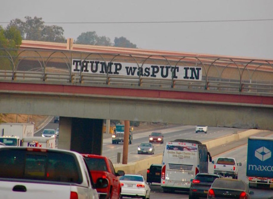 Massive Trump was PUT IN sign over Hwy 99