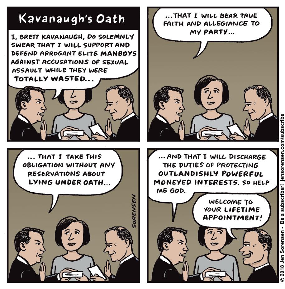 Cartoon: Kavanaugh's oath