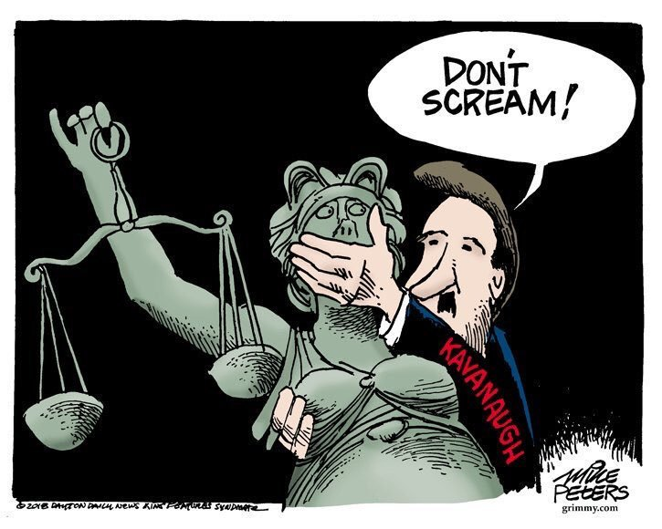 Image result for kavanaugh rape cartoon