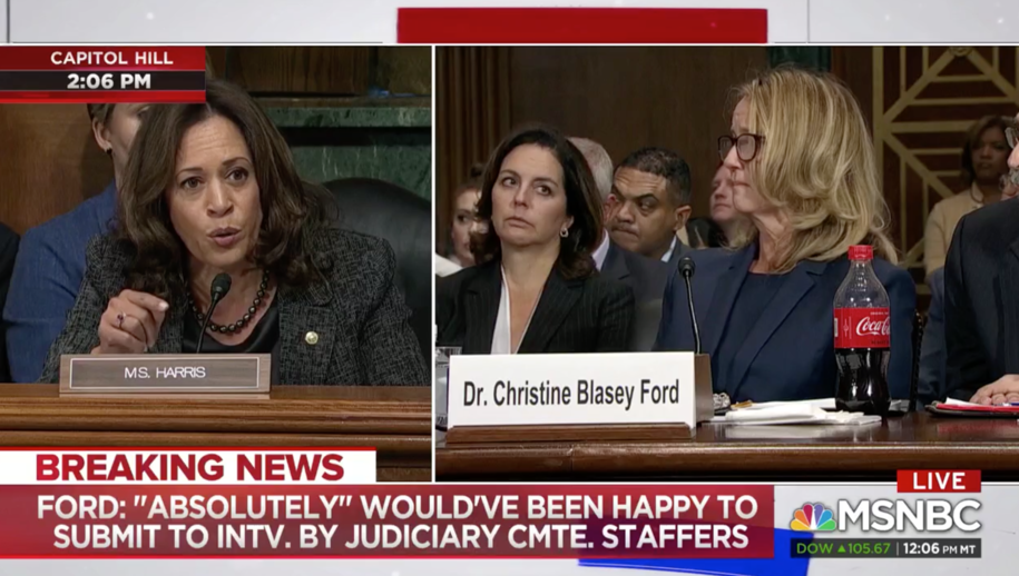 Sen. Harris moves Dr. Ford to tears: 'History will show that you are a true profile in courage'