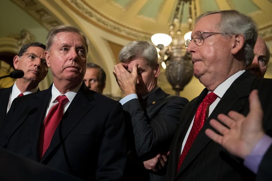 Vulnerable Senate Republicans to Trump: Yes, please own us again