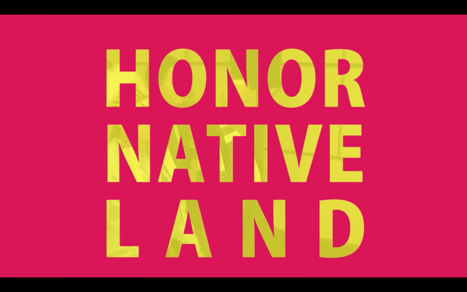 screenshot of video by the US Department of Culture and Arts about #HonorNativeLand