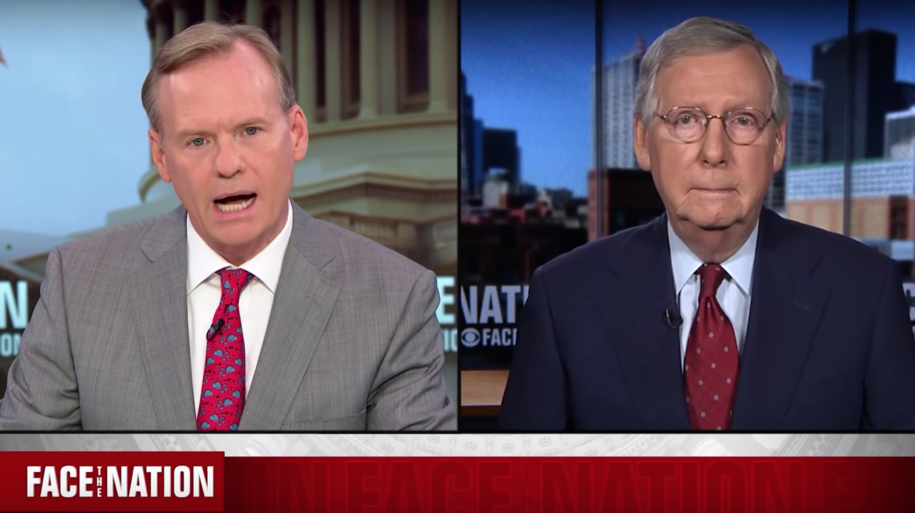 McConnell sputters as news host refuses to accept his revisionist Supreme Court history