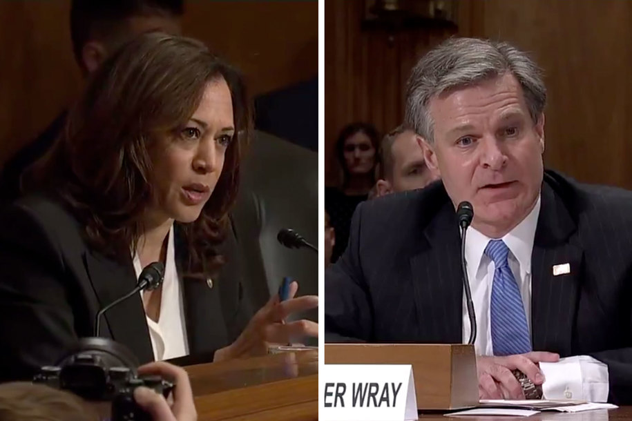 WATCH: Sen. Harris grills FBI director until he admits White House limited Kavanaugh investigation