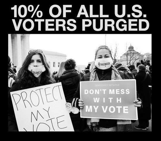 Image result for voter purge pics