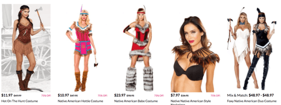 d048c2b6413 Open thread for night owls: Native women denigrated by costumes ...