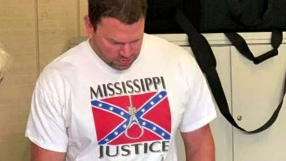 LOL: Man Who Wore Racist, Terrorist T-Shirt To Mississippi Poll Is in The Unemployment Line.