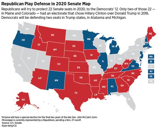 2020: One-Party rule is in sight. Seven Senate seats that are up for ...