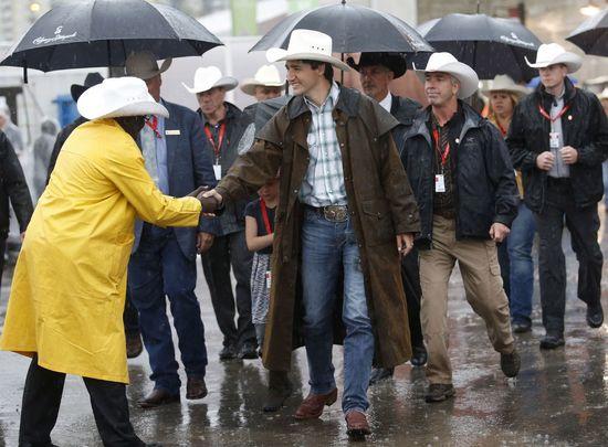 Presidenting In The Rain