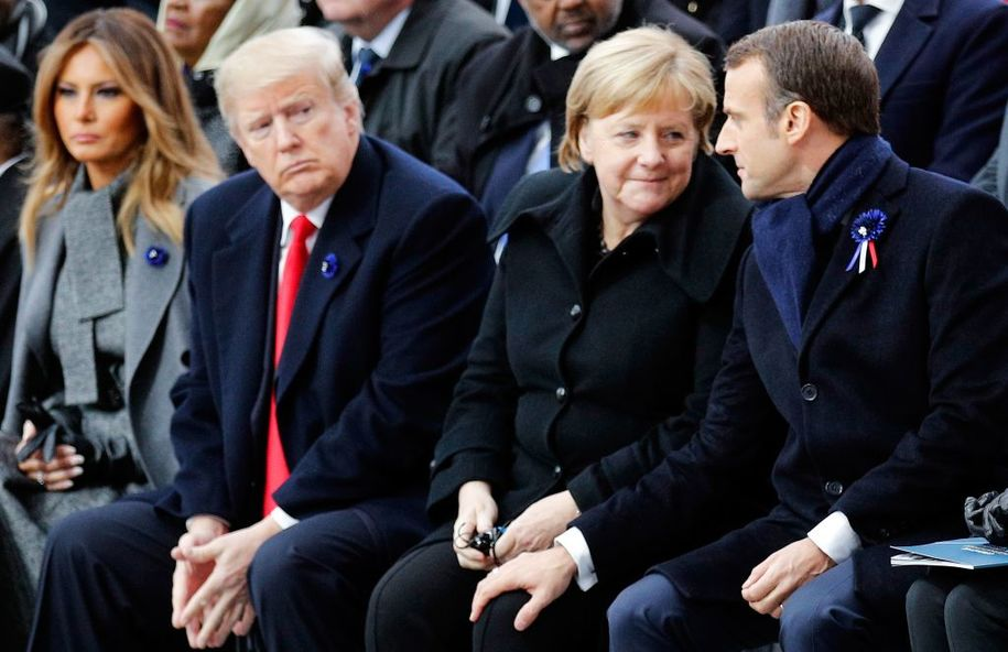 Outmatched and outclassed, weak Donald Trump is being publicly mocked by world leaders
