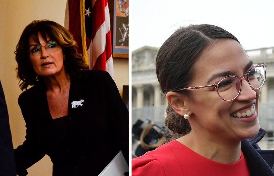 With one tweet Alexandria Ocasio-Cortez sets the internet on fire and sends Sarah Palin back to 2008