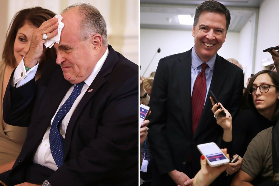 James Comey implies that Rudolph Giuliani should be freaking out
