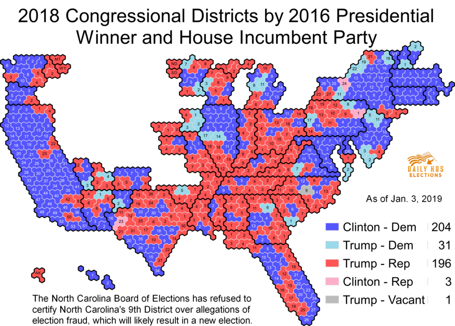 Daily Kos Elections\' presidential results by congressional district ...
