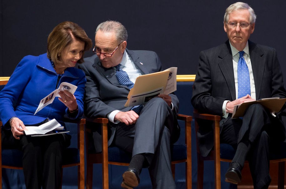 Pelosi's absolutely crushing McConnell in their congressional rematch and the GOP is paying for it