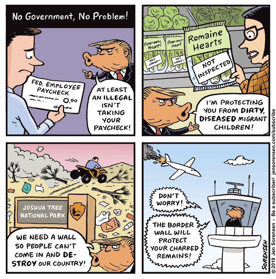 Cartoon: No government, no problem!
