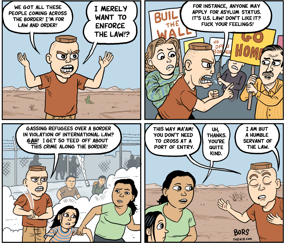 Cartoon: Law and order on the border