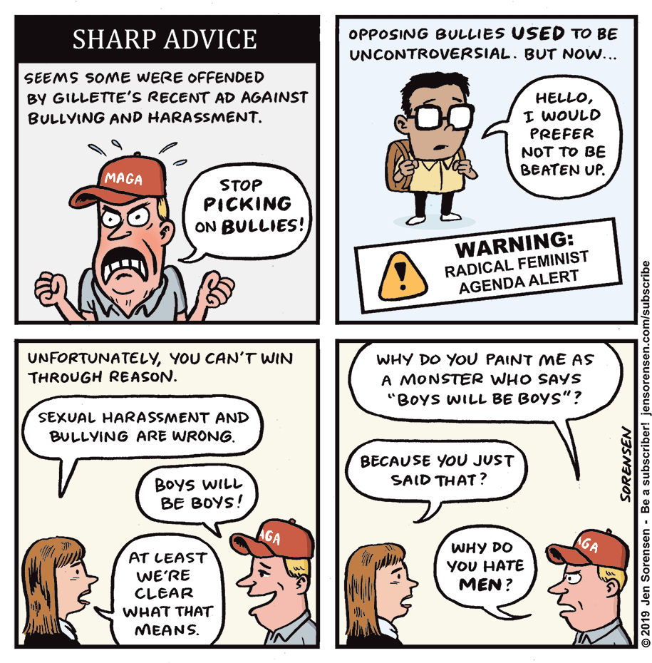 Cartoon: Sharp advice