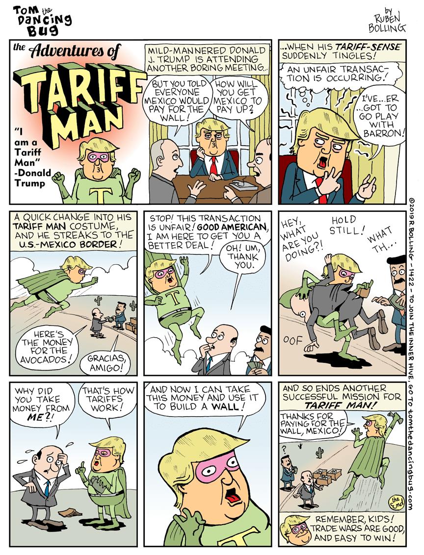 Cartoon: Donald Trump IS... Tariff Man!