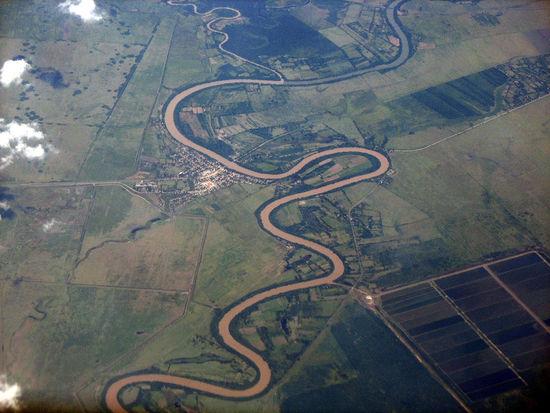 Meanders of the Rio Cauto at Guamo Embarcadero, Cuba