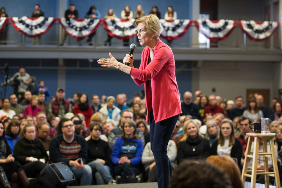Elizabeth Warren bucks the system, placing her bets on small-dollar donors for 2020
